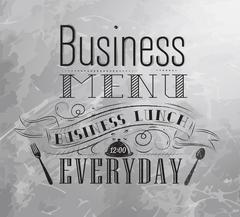 Business menu - stock illustration