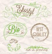 Elements eco style Stock Illustration
