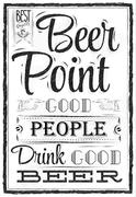 Poster beer point coal - stock illustration