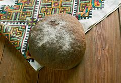Russian  round bread - stock photo