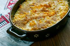 Finnish carrot casserole - stock photo