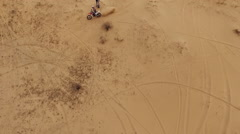 Motor racers in Oleshky sands. Ukraine. Slow motion Stock Footage