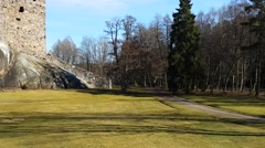 Raasepori castle ruins, in Raseborg, Uusimaa, Finland - stock footage
