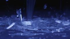 Slow Motion of Broken Glass Falling - stock footage