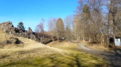 Raasepori castle, fortress ruins, in Raseborg, Uusimaa, Finland - stock footage