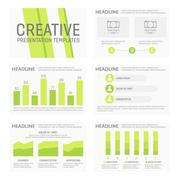 Vector template for multipurpose presentation slides with graphs and charts Stock Illustration