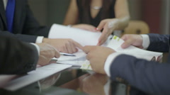 Lawyer meeting - stock footage