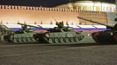 Night rehearsal celebration of the 71th anniversary of the Victory Day in Moscow Stock Footage