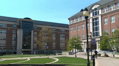 University of Dayton college campus in the springtime Stock Footage