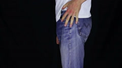Pockets on eversion without money Stock Footage