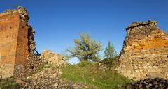 ruins  of Krevo, Belarus. - stock photo