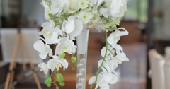 Decoration of wedding table Stock Footage