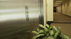 Closeup of woman pressing an elevator button 4k Stock Footage
