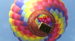 Hot air balloon, view from below Stock Footage