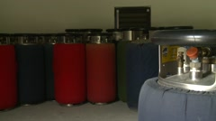 Propane cylinders - stock footage