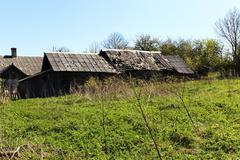 Abandoned house , Belarus. Stock Photos