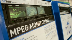 Monitoring equipment, NAB Show 2015 exhibition in Las Vegas, USA. Stock Footage