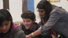 Indian teacher with spanish student one on one - stock footage