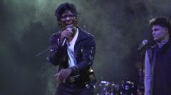 Michael Jackson Impersonator Stock Footage