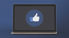 4K - Facebook like button icon logo symbol - stock footage