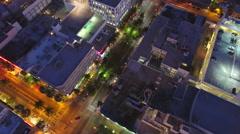 Aerial tour Miami Beach lit up 4k - stock footage