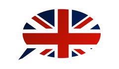 Conversation dialogue bubble of the United Kingdom - stock illustration
