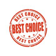 Best choice vector illustration stamp - stock illustration