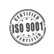 ISO 9001 certified vector illustration stamp Stock Illustration