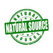 Natural source vector illustration stamp - stock illustration