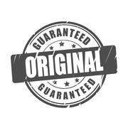 Original guaranteed vector illustration stamp - stock illustration