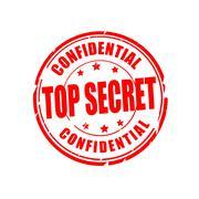 Top secret, confidential vector illustration stamp - stock illustration