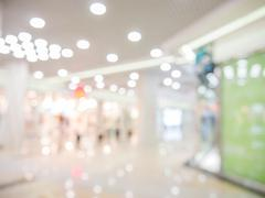 Abstract background of shopping mall, shallow DOF - stock photo