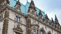 Town Hall - Hamburg, Germany - stock footage