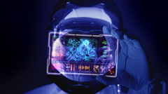 High end futuristic scientist research Stock Footage
