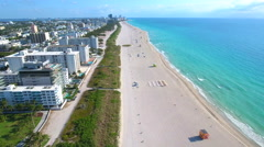 Beach stay and travel Miami Beach 4k - stock footage