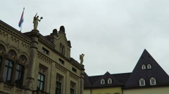 Luxembourg City, Luxembourg – winter 2016. Grand Ducal Palace rooftop. Stock Footage