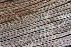 texture of oak wood fiber, old wooden plank - stock photo