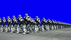 Space Opera: Marching Troopers (Blue Screen) Stock Footage