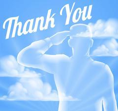 Memorial Day or Veterans Day Thank You Design Stock Illustration