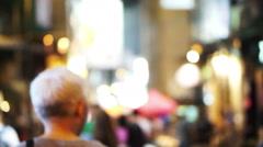 Blur shot of Hong Kong modern night life light, Lan Kwai Fong Stock Footage