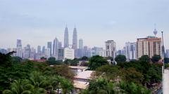 Kuala Lumpur Panoram Pan in UHD - 4k Stock Footage
