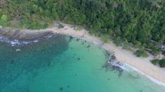 Stunning aerial view of Koh Kood Island- Thailand Stock Footage