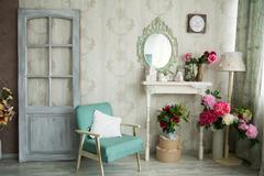 Vintage country house interior - stock photo