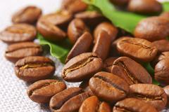 Medium roasted Arabica coffee beans - stock photo