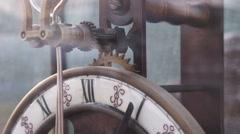 Vintage clock gears mechanism Stock Footage