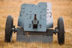German Anti-tank Gun Pak 36 In Field - stock photo
