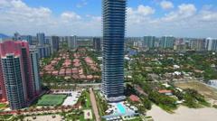 Aerial stock video Regalia Sunny Isles Beach FL Stock Footage