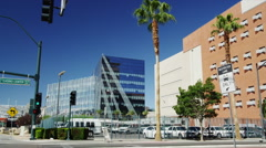 View of Las Vegas City Hall with Clark County Detention Center Stock Footage
