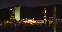 Elevated View of Primm at the Nevada/California border Stock Footage