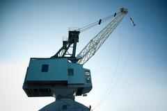 dockyard crane - stock photo